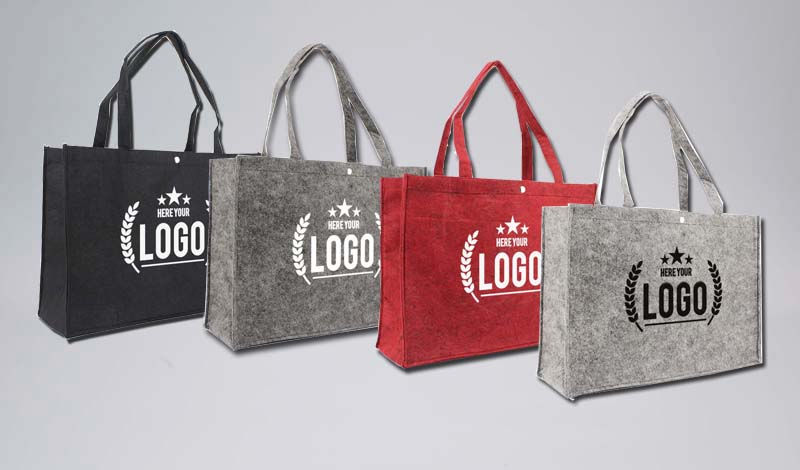 1b3dc3ea89b2d ... Filztaschen bedruckt mit Ihrem Logo. Baumwolltaschen bedrucken Express  Anfrage
